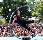 Acrobat At Edmonton Fringe Festival Stock Photography