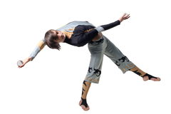 Acrobat with a glass marble Stock Photo