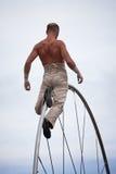 Acrobat performs Royalty Free Stock Photo