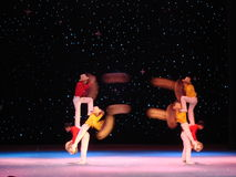 Acrobat show on stage Royalty Free Stock Photography