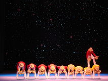 Acrobat show on stage Royalty Free Stock Images