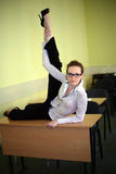 Acrobat student Royalty Free Stock Photo