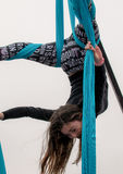 Acrobat at Super Bowl Event. Beautiful young acrobat at Super Bowl Event, Houston, Texas Stock Photo