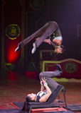 Acrobat women at circus Stock Photography
