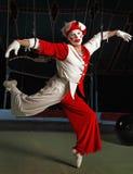 Acrobata dell'aria del circo Immagine Stock