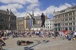 Acrobata em Amsterdão Fotografia de Stock Royalty Free
