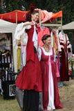 Acrobata medievale della donna Immagine Stock Libera da Diritti