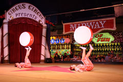 Acrobate cinesi nel circo del circo, Reno Immagini Stock Libere da Diritti