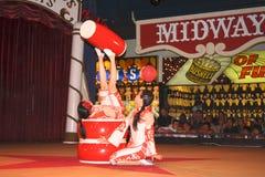 Acrobate cinesi nel circo del circo, Reno Immagine Stock Libera da Diritti