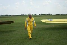 Acrobate pilote, cru Photographie stock