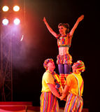 Acrobaten in circus Royalty-vrije Stock Afbeelding
