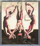 Acrobaten op muurschildering in Auckland Stock Afbeelding