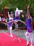 Acrobates chinois 3 de Disneyworld Epcot Image libre de droits