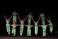 Acrobates chinois Photographie stock