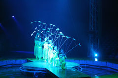 Acrobates de cirque photos libres de droits