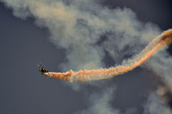 Acrobatic aircraft Stock Images