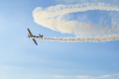 Acrobatic airplane Stock Image