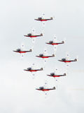 Acrobatic Airplane Formation Stock Photos