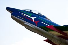 Acrobatic airplane: Italian Army Stock Image