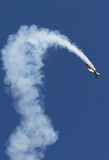 Acrobatic Airplane. Acrobatic plane tricolor at air show BIAS 2014 Stock Photo