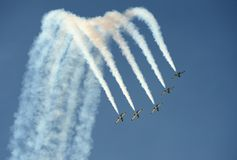 Acrobatic airplanes Baltic Bees stock image