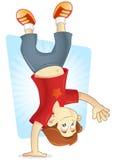 acrobatic banhoppning royaltyfri illustrationer