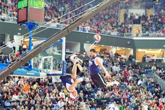 Acrobatic basketball Royalty Free Stock Photography