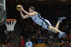 Acrobatic basketball show Stock Photos