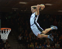 Acrobatic basketball show Royalty Free Stock Images