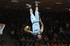 Acrobatic basketball show Stock Photography
