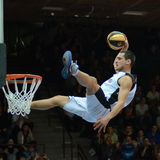 Acrobatic basketball show Royalty Free Stock Photos