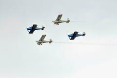 Acrobatic BN-2 Islander planes at BIAS 2015 Stock Photos
