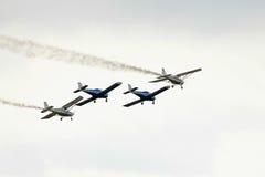 Acrobatic BN-2 Islander planes at BIAS 2015 Stock Image
