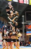 Acrobatic cheerleaders Royalty Free Stock Images