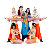 Acrobatic dance team perform stunt Royalty Free Stock Images