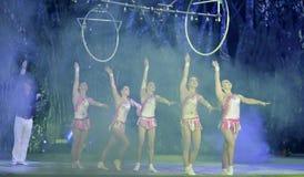 Acrobatic dancer Royalty Free Stock Photo