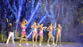 Acrobatic dancers Stock Photos