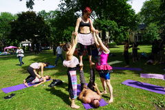 Acrobatic Dancers 8 Stock Image
