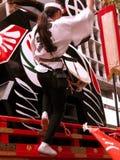 Acrobatic drummer Stock Photo