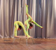 Acrobatic duo Royalty Free Stock Images
