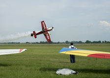 Acrobatic flight, raw Stock Image