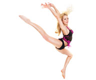 Acrobatic girl Stock Photo