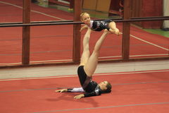 Acrobatic gymnastics - MTV Erfurt Stock Photo