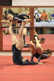 Acrobatic gymnastics - women trio Erfurt Royalty Free Stock Photos