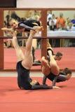 Acrobatic gymnastics - women trio Erfurt Royalty Free Stock Photos