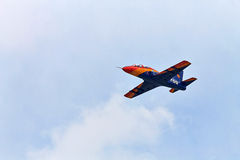 Acrobatic IAR-99 Soim plane at BIAS 2015 Stock Photography
