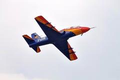 Acrobatic IAR-99 Soim plane at BIAS 2015 Royalty Free Stock Photo