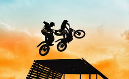 Acrobatic jump Stock Images