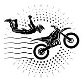 Acrobatic motorcycles jump show. Royalty Free Stock Photography