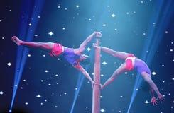 Free Acrobatic On Mallakhamb, Mystic India Show At Bahrain Stock Photos - 33595633